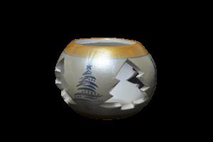 Candela in forma de glob realizata din ceramica – Design cu brazi1