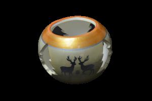 Candela in forma de glob realizata din ceramica – Design cu reni1