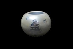 Candela in forma de glob realizat din ceramica – Design cu reni1