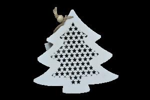 Decoratiune pentru geam realizata din lemn – Forma Stea/Brad