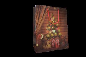 Punga pentru cadouri craciun – Design cu brad