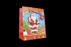 Punga de cadouri mica -Design mos craciun cu cadouri