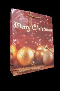 Punga pentru cadouri - Design globuri Merry Christmas