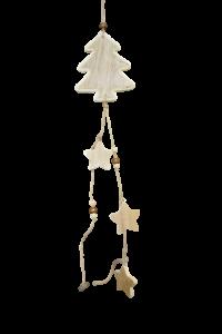Decoratiune craciun pentru usa/geam in forma de brad cu stelute