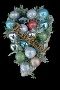 Decoratiune craciun in ghiveci de piatra - Mesaj Te Iubesc1