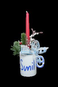 Decoratiune craciun in cana cu lumanare - Model 3 [1]