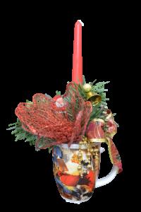 Decoratiune craciun in cana cu lumanare - Model 14 [1]