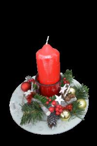 Decoratiune craciun pentru masa cu lumanare - Model 12