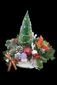 Decoratiune craciun pentru masa cu figurine - Model 22