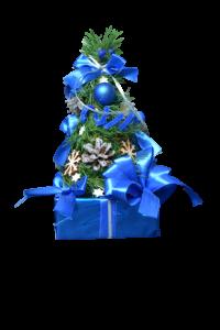 Decor masa de Craciun – Brad artificial - Design Albastru [2]
