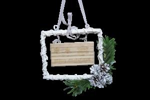 Decoratiune de craciun realizata din rachita - Merry Christmas2