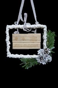 Decoratiune de craciun realizata din rachita - Merry Christmas1