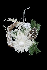 Decoratiune din rachita - Coroana craciun cu agatator1