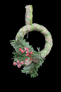 Decoratiune craciun - Coroana usa/geam cu agatator2