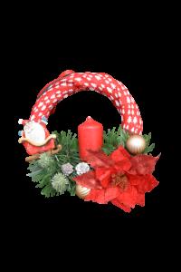 Decoratiune craciun - Coroana cu lumanare si agatator1