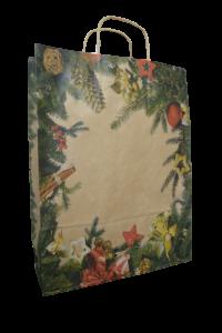 Punga pentru cadouri din hartie - Design crengi de brad
