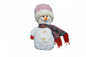 Figurina decorativa din material textil - Om zapada1