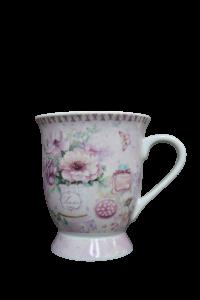 Cana din ceramica - Design cu flori