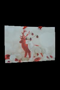 Punga pentru cadouri mare - Design cu reni0