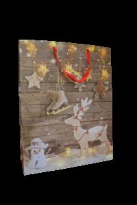 Punga pentru cadouri mare - Design cu reni [1]