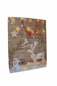 Punga pentru cadouri mare - Design ren [1]