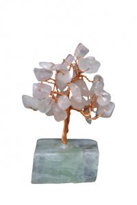 Copacel cu baza de fluorit si pietre de cuart roz 8 cm [1]