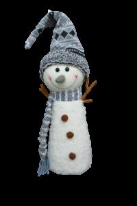 Figurina decorativa pentru Craciun din material textil - Om zapada
