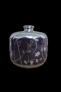 Vaza din sticla Mov/Argintiu