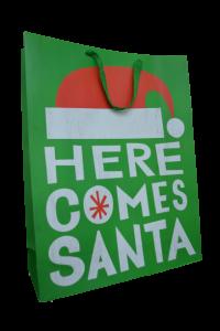 Punga pentru cadouri verde - Design Merry Christmas1
