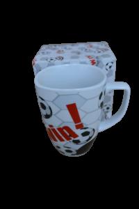 Cana din ceramica in cutie - Model minge0