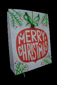 Punga pentru cadouri alba - Design Merry Christmas0