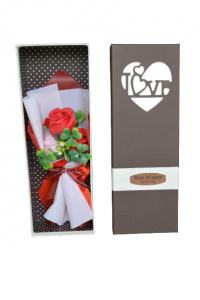 Buchet trandafiri sapun in cutie0