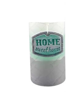 Lumanare realizata in forma cilindrica – Home Sweet Home