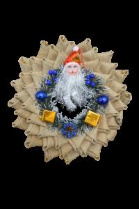 Ornament coroana cu Mos Craciun1