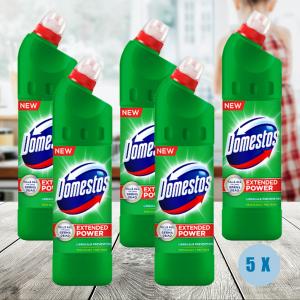 Pachet 5 x Domestos 750ml Pine Fresh dezinfectant0