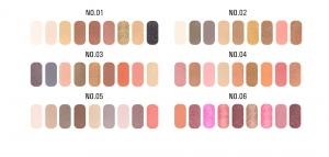 Paleta Profesionala Farduri Pentru Ochi 9 Culori  O.TWO.O4