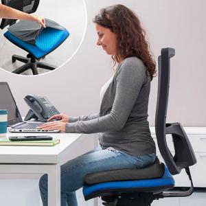 Pernă cu gel - pentru scaun, antiderapant și respirabil,pentru durere de spate