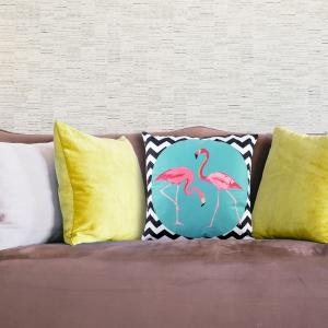 Perna Decorativa Flamingo 45X45 CM1