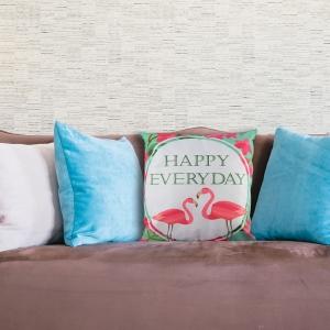 Perna Decorativa Flamingo Happy Everyday 45X45 CM0