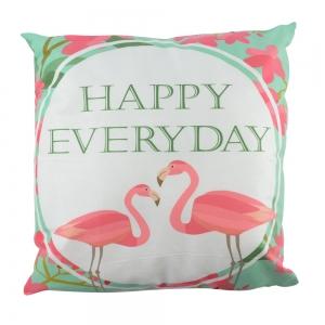 Perna Decorativa Flamingo Happy Everyday 45X45 CM2