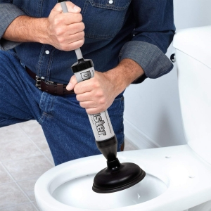 Pompa Pentru Desfundat Chiuveta Si Toaleta – Cu 2 Duze0