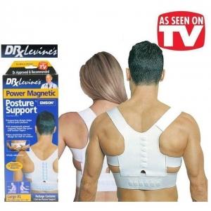 Corset Spate Magnetic Pentru Corectarea Pozitiei Spatelui #1 Dr. Levine Power Magnetic Posture1