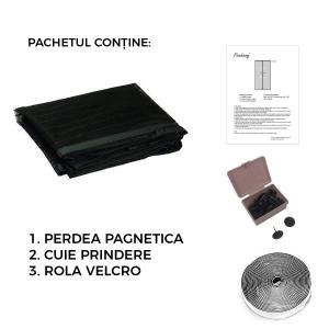 Perdea Alba Anti Insecte Pentru Usa - Cu Magnet3