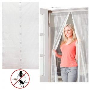 Perdea Alba Anti Insecte Pentru Usa - Cu Magnet5