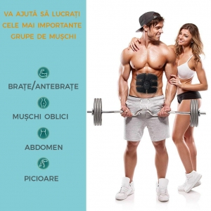 Centura Electrostimulare Corporala Smart Fitness – 3 In 12