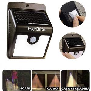Lampa Pentru Exterior Cu Incarcare Solara Si Senzor Ever Brite1