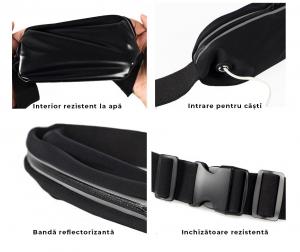 Husa/Borseta Telefon Pentru Alergat Negru – 5.5 Inch3