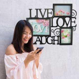 Rama Foto Live, Laugh, Love 45X38 CM0