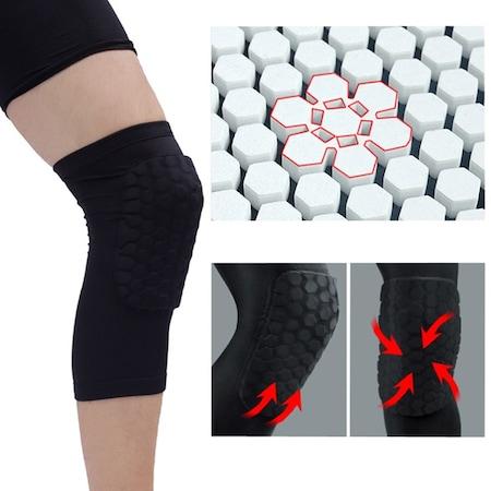 Genunchiera tip fagure, consolideaza genunchiul, manson de protectie captusit, negru [1]