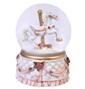 Glob ornamental de Craciun cu Lichid, model Cal, 9 cm1